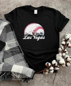 Las Vegas Baseball Skyline Retro Las Vegas Cityscape shirt