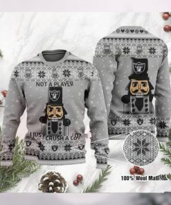 Las Vegas Raiders I Am Not A Player I Just Crush Alot Ugly Christmas Sweater Sweatshirt