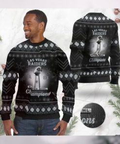 Las Vegas Raiders Super Bowl Champions NFL Cup Ugly Christmas Sweater Sweatshirt Party