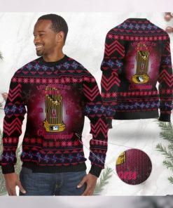 Los Angeles Angels World Series Champions MLB Cup Ugly Christmas Sweater Sweatshirt Party