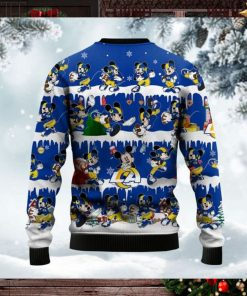 Los Angeles Rams Mickey NFL American Football Ugly Christmas Sweater Sweatshirt Party
