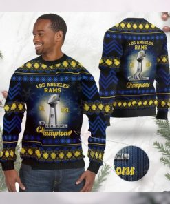 Los Angeles Rams Super Bowl Champions NFL Cup Ugly Christmas Sweater Sweatshirt Party