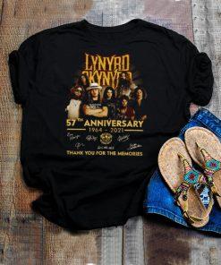 Lynyrd skynyrd 57th anniversary 1964 2021 thank you for the memories shirt