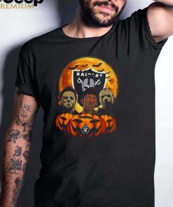 Michael Myers Freddy Krueger Jason Voorhees Oakland Raiders Halloween shirt