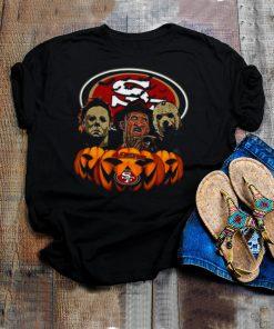 Michael Myers Freddy Krueger Jason Voorhees San Francisco 49ers Halloween shirt