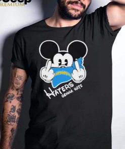 Mickey haters gonna los angeles american football team shirt