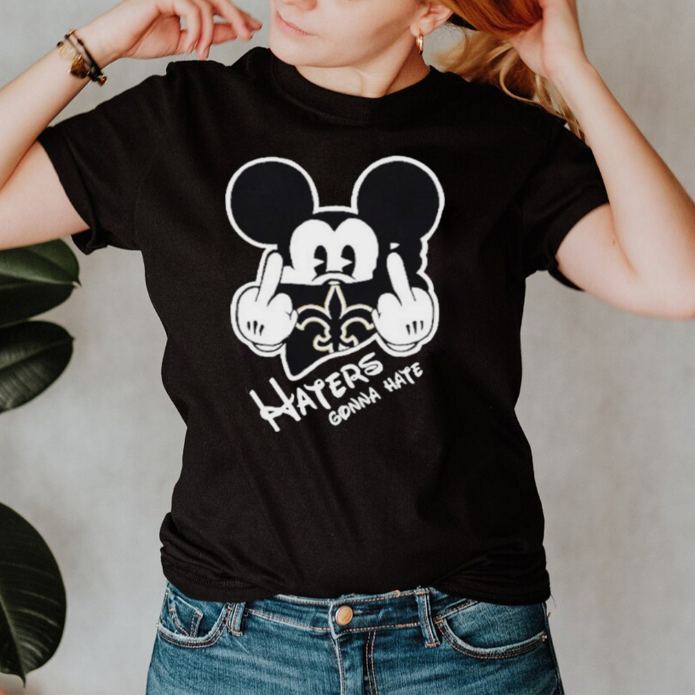 Mickey haters gonna new orleans american football team shirt