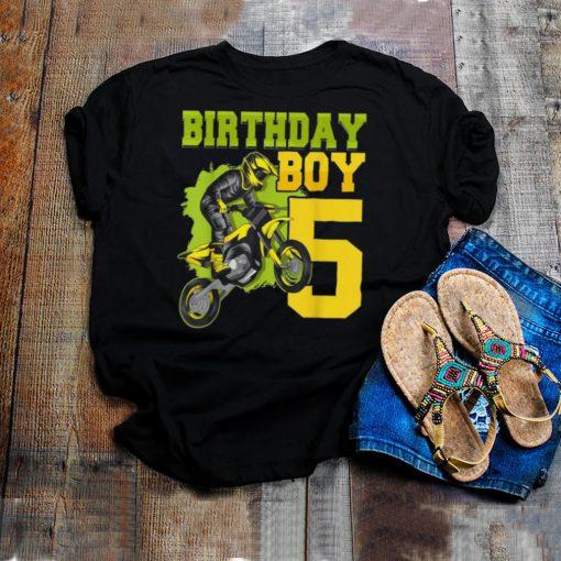 Motocross MX 5th 5 Year Old Dirt Bike Birthday Party shirt