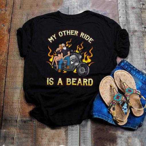 My Other Ride Is A Beard Biker Women Sexy Motorcycle T shirt