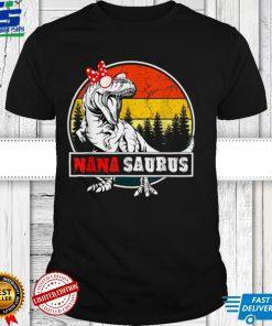 Nanasaurus Dinosaur Funny Nana Saurus Family T Shirt