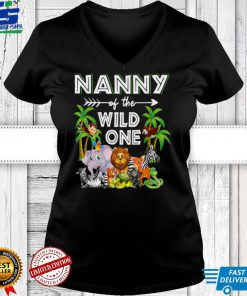 Nanny Of The Wild One Zoo Birthday Safari Jungle Animal T Shirt