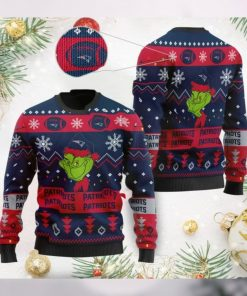 New England Patriots American NFL Football Team Logo Cute Grinch 3D Men And Women Ugly Sweater Shirt For Sport Lovers On Christmas Days