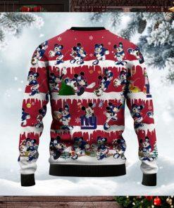 New York Giants Mickey NFL American Football Ugly Christmas Sweater Sweatshirt Party