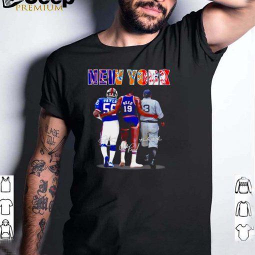 New York Lawrence Taylor Willis Reed Babe Ruth shirt