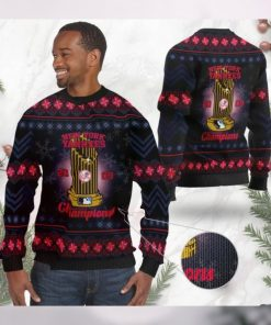 New York Yankees World Series Champions MLB Cup Ugly Christmas Sweater Sweatshirt Party