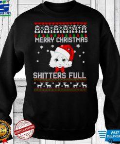 Nice cat Merry Christmas shitters full Christmas shirt