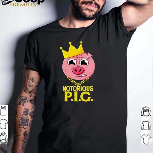 Notorious Pig Farm Pun Old School Rap Hip Hop T shirt