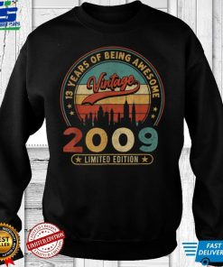 Official 13 Year Old Vintage 2009 Limited Edition 13th Birthday T Shirt