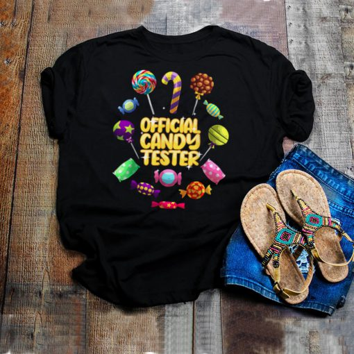 Official Candy Tester Lollipop Halloween Sweets shirt