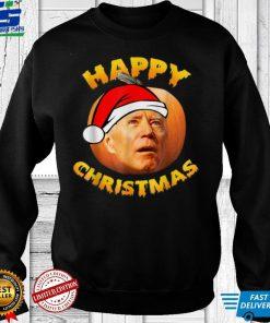 Official Happy Christmas Halloween Jokes Pumpkin Funny Joe Biden T Shirt