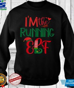 Official I'm The Running Elf Matching Group Family Christmas Pajama T Shirt