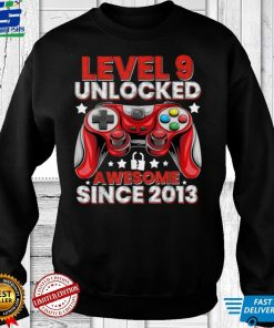 Official Level 9 Unlocked Awesome Since 2013 9th Birthday Gaming T Shirt