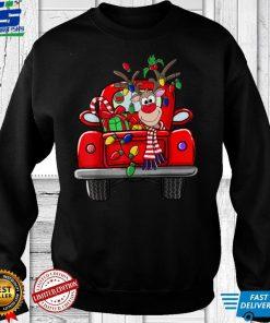 Official Merry Christmas Cute Truck Reindeer Happy Christmas T Shirt