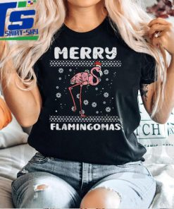 Official Merry Flamingomas Funny Animal Ugly Christmas PJ Xmas Pajama T Shirt