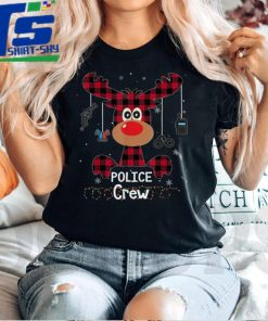 Official Official Buffalo Plaid Reindeer Police Crew Merry Christmas 2021 T Shirt