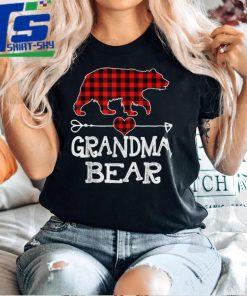 Official Official Grandma Bear Christmas Pajama Red Plaid Buffalo Family T Shirt