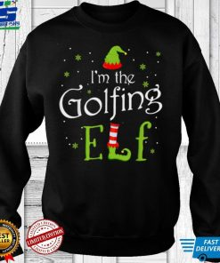 Official Official I'm The Golfing Elf Shirt Xmas Matching Christmas For Family T Shirt