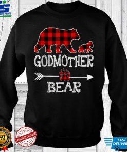 Official Red Plaid Godmother Bear One Cubs Matching Buffalo Pajama T Shirt