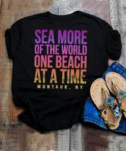 One Beach at a Time Montauk Summer New York Tropical shirt