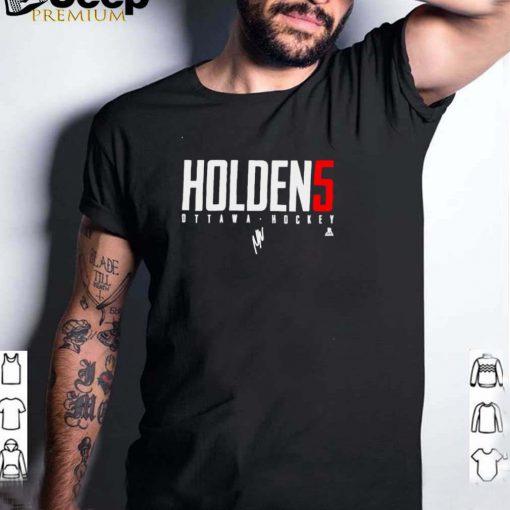 Ottawa Hockey Nick Holden 5 signature shirt