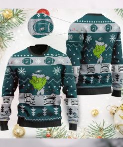 Philadelphia Eagles American NFL Football Team Logo Cute Grinch 3D Men And Women Ugly Sweater Shirt For Sport Lovers On Christmas Days