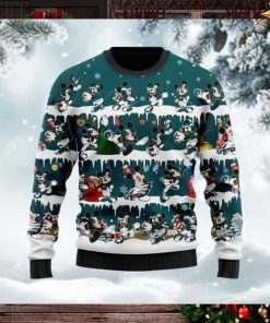 Philadelphia Eagles Mickey NFL American Football Ugly Christmas Sweater Sweatshirt Party