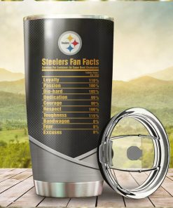 Pittsburgh Steelers Fan Facts Super Bowl Champions American NFL Football Team Logo Grateful Dead Skull Custom Name Personalized Tumbler Cup For Fans