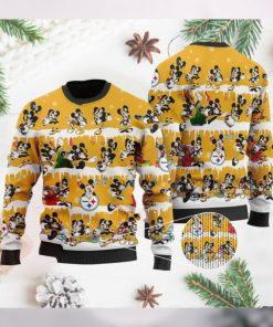 Pittsburgh Steelers Mickey NFL American Football Ugly Christmas Sweater Sweatshirt Party