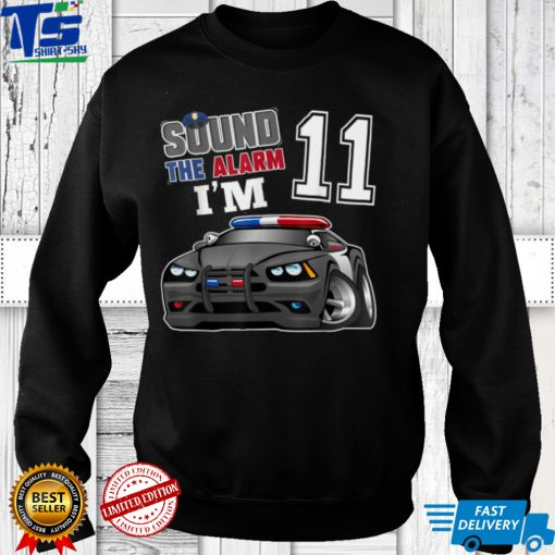 Police Car 11th Birthday Boy Shirt Matching Family T Shirt