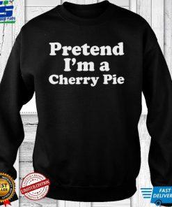 Pretend Im A Cherry Pie Lazy Easy Halloween Costume Shirt