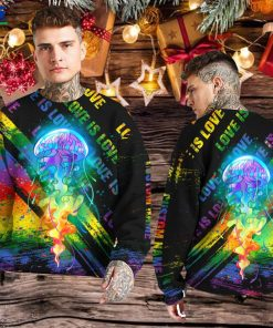 Rainbow Jellyfish Custom Name 3D All Over Print Hoodie Shirt For LGBT Gay Lesbian Bisexual Transgender In Pride Monthz