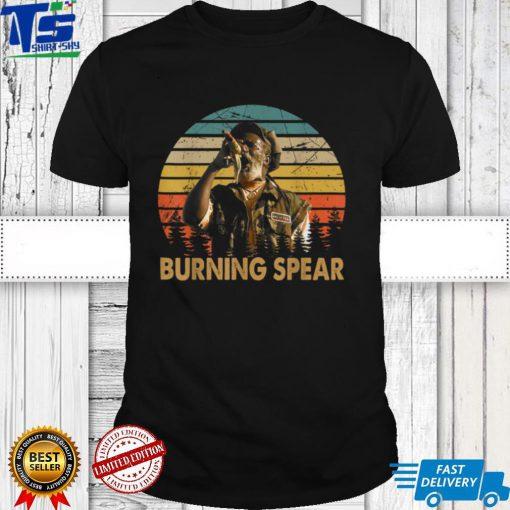 Retro Burning Art Spear Music Jamaican Singers For Men Women T Shirt