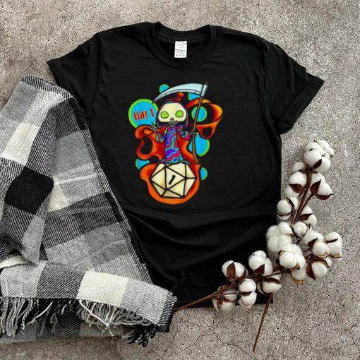 Roll a 1 critical fail guess ill die dungeon rpg d20 shirt