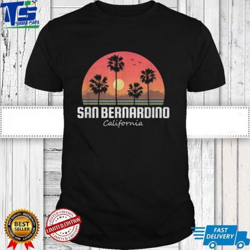 San Bernardino CA Vintage Gift Retro Women Men Kids Souvenir T Shirt