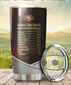 San Francisco 49ers Fan Facts Super Bowl Champions American NFL Football Team Logo Grateful Dead Skull Custom Name Personalized Tumbler Cup For Fans