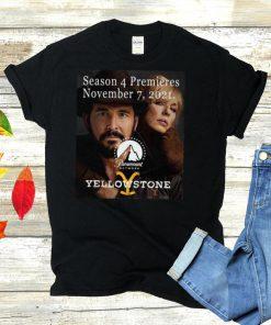 Season 4 Premieres November 7 2021 Paramount Network Yellowstone T shirt