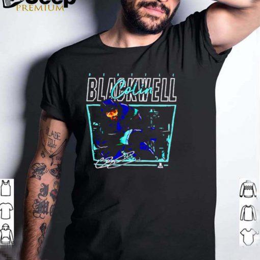 Seattle Kraken Colin Blackwell cage signature shirt