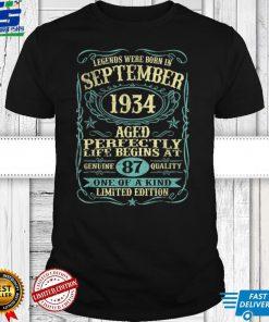 September 1934 87th Birthday Gift 87 Year Old Men Women T Shirt