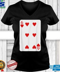 Six Of Hearts Playing Cards Halloween Costume Deck Of Cards T Shirt