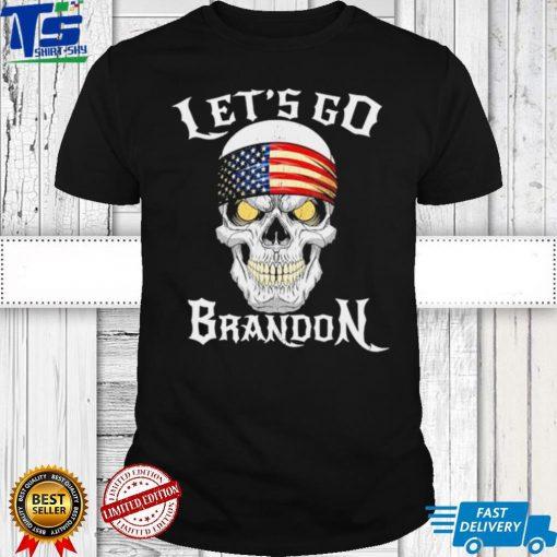 Skull FJB Lets Go Brandon Joe Biden Chant shirt